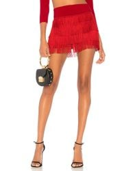 Norma Kamali - Fringe All Over Short In Red - Lyst