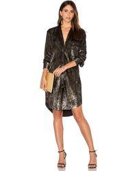 Frankie | Velvet Shirt Dress | Lyst