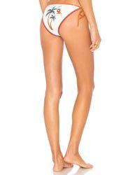Agua de Coco - Laser Decor Bikini Bottom In White - Lyst