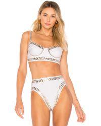 Norma Kamali - Stud Underwire Bikini Top - Lyst