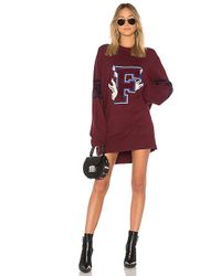 PUMA - Varsity Letter Sweater In Burgundy - Lyst