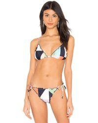 c27f3c4f46924 Lyst - Salinas Adele Ambra Triangle Bikini Top in Pink
