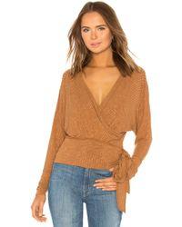 Free People - East Coast Wrap Sweater - Lyst
