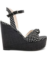 RAYE - Shannon Wedge In Black & White - Lyst
