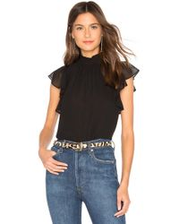 1.STATE - Flutter Sleeve Top - Lyst