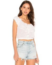 Free People - Eyelet You A Lot Top In White - Lyst