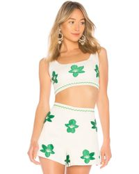Alexis - Dai Crop Top In Ivory - Lyst