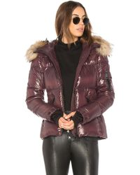 Sam. - Blake Puffer Jacket With Racoon Fur - Lyst