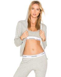 Calvin Klein - Modern Cotton Hoodie In Gray - Lyst