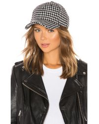 Michael Stars - Cozy Patterned Hat In Black. - Lyst