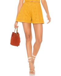 Finders Keepers - Maella Short In Mustard - Lyst