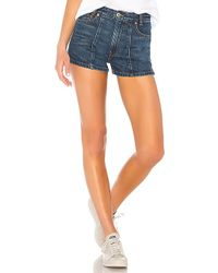RE/DONE - Originals High Darted Button Tab Short - Lyst