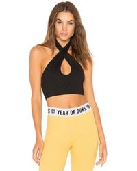 Year Of Ours - Halter Sports Bra In Black - Lyst