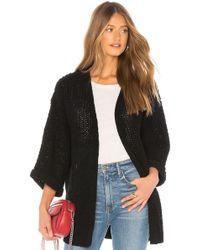 MINKPINK - Knit Oversized Cardigan In Black - Lyst