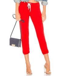 Monrow - Supersoft Vintage Sweats In Red - Lyst