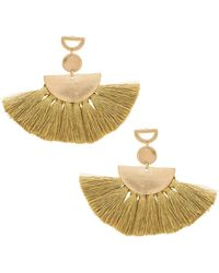 Shashi - Ava Tassel Earrings In Metallic Gold. - Lyst