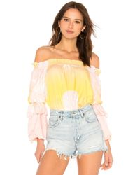 Cynthia Rowley - Jetset Pineapple Top In Yellow - Lyst