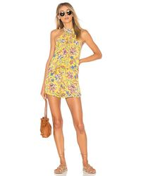 L*Space - L* Kelly Pacific Bloom Romper In Yellow - Lyst