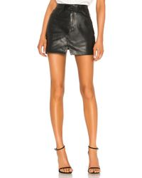 GRLFRND - Zamira A-frame Gusset Leather Skirt In Black - Lyst