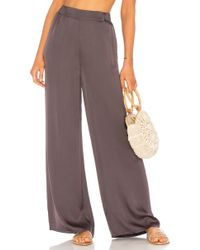 Cali Dreaming - Salon Pant In Gray - Lyst
