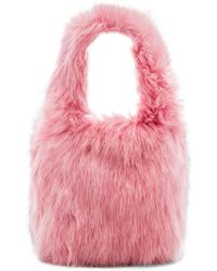 Charlotte Simone - Lil Pop Faux Fur Tote In Pink. - Lyst