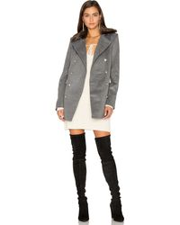 Capulet - Emmy Double-Breasted Coat With Faux-Fur Collar - Lyst
