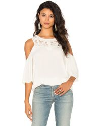 Ella Moss - Olivier Cold Shoulder Top - Lyst