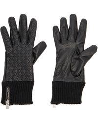 Maison Scotch - Leather Rib Cuff Gloves - Lyst