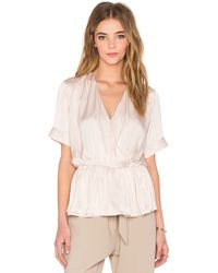 Native Stranger - Pleated Wrapped Blouse - Lyst
