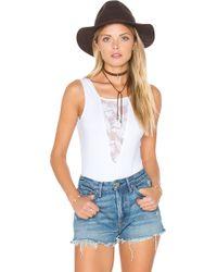 Nightcap - Sleeveless Lace Inset Bodysuit - Lyst