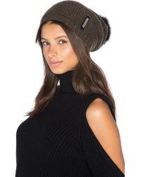 SOIA & KYO - Caddie Hat With Fox Fur Pompom - Lyst