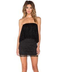 T-bags - Crochet Lace Ruffle Tube Dress - Lyst
