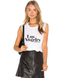 Tyler Jacobs - Los Angeles Cut-Off Cotton-Blend Tank Top - Lyst