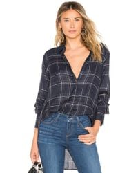 PAIGE - Clemence Shirt In Blue - Lyst