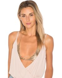 8 Other Reasons Evie Chain Bra in Metallic Gold VArx0