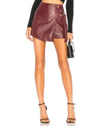Urban Outfitters - Mini Wrap Skirt In Burgundy - Lyst
