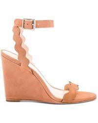 Loeffler Randall - Piper Ankle Strap Wedge Sandal In Tan - Lyst