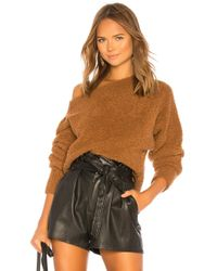 Vince - Teddy Cropped Boatneck Sweater - Lyst