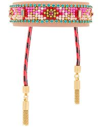 Rebecca Minkoff - Patterned Seed Bead Friendship Bracelet - Lyst