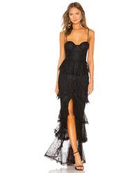 MAJORELLE - Zelda Fitz Gown In Black - Lyst