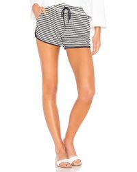 Splendid - Fisherman Stripe Shorts In Navy - Lyst