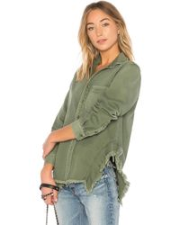 NSF - Rahel Button Up In Army - Lyst