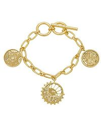 Wanderlust + Co - Out Of This World Toggle Bracelet In Gold. - Lyst