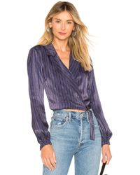 House of Harlow 1960 - X Revolve Marcia Blouse In Blue - Lyst