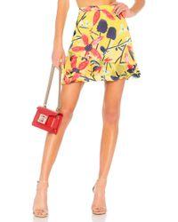 Saloni - Cece Skirt In Yellow - Lyst