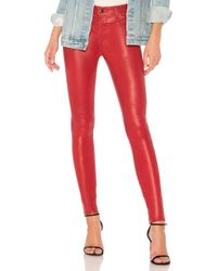 J Brand | Maria High Rise Leather Pant | Lyst