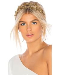 Jennifer Behr - Adele Circlet Headband In Metallic Gold. - Lyst