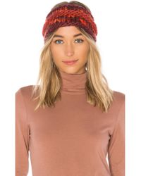 The North Face - Nanny Knit Ear Band In Red. - Lyst