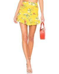 Lovers + Friends - Brooke Skirt In Yellow - Lyst