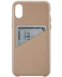 Casetify - Leather Card Iphone X Case In Brown. - Lyst